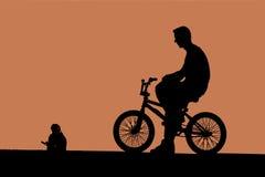 ποδήλατο ποδηλάτων bmx Στοκ φωτογραφίες με δικαίωμα ελεύθερης χρήσης
