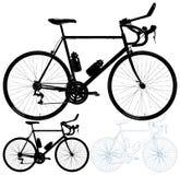 Ποδήλατο που απομονώνεται στο άσπρο διάνυσμα υποβάθρου απεικόνιση αποθεμάτων
