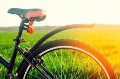 Ποδήλατο στενό σε επάνω φύσης, ταξίδι, υγιής τρόπος ζωής, περίπατος χωρών, αθλητισμός Στοκ φωτογραφία με δικαίωμα ελεύθερης χρήσης