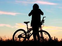 Ποδήλατο, ποδήλατο, συναισθηματική τέχνη έννοιας κύκλων Στοκ Εικόνες