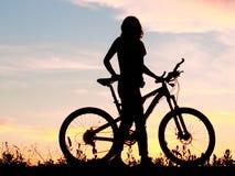 Ποδήλατο, ποδήλατο, συναισθηματική τέχνη έννοιας κύκλων Στοκ Εικόνα