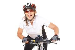 Ποδηλάτης κοριτσιών Στοκ εικόνες με δικαίωμα ελεύθερης χρήσης