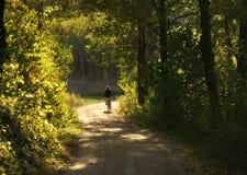 Ποδηλάτης σε μια εθνική οδό στοκ φωτογραφία με δικαίωμα ελεύθερης χρήσης