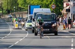 Ποδηλάτης στο γύρο de Γιορκσάιρ 2018 στοκ φωτογραφία