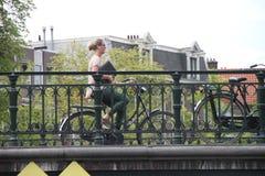 ποδηλάτης του Άμστερνταμ Στοκ Φωτογραφία