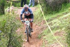 ποδηλάτης donwhill Στοκ Εικόνα