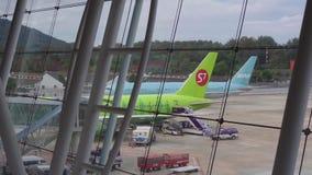 Ποδιά Phuket αερολιμένων απόθεμα βίντεο