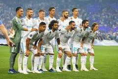ποδοσφαιριστές Μαδρίτη π&rho Στοκ φωτογραφίες με δικαίωμα ελεύθερης χρήσης