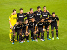 ποδοσφαιριστές Μαδρίτη π&rho Στοκ Εικόνα