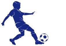 Ποδοσφαιριστής αγοριών απεικόνιση αποθεμάτων