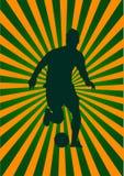ποδοσφαιριστής ανασκόπη& Στοκ φωτογραφία με δικαίωμα ελεύθερης χρήσης