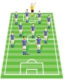 Ποδοσφαιριστής στον τομέα διανυσματική απεικόνιση