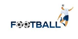 Ποδοσφαιριστής στο κλίμα Στοκ φωτογραφία με δικαίωμα ελεύθερης χρήσης