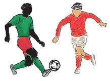 ποδοσφαιριστής ελεύθερη απεικόνιση δικαιώματος