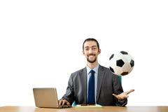 ποδόσφαιρο έννοιας επιχειρηματιών Στοκ εικόνα με δικαίωμα ελεύθερης χρήσης