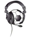 ποδόσφαιρο ακουστικών σφαιρών Στοκ εικόνες με δικαίωμα ελεύθερης χρήσης