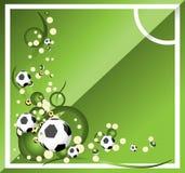 ποδόσφαιρο ανασκόπησης Στοκ Εικόνα