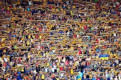 ποδόσφαιρο ανεμιστήρων Στοκ Φωτογραφίες