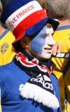 ποδόσφαιρο ανεμιστήρων franch Στοκ Φωτογραφίες