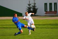 ποδόσφαιρο ανταγωνισμού στοκ εικόνες