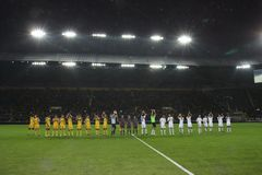 ποδόσφαιρο αντιστοιχιών στοκ φωτογραφίες με δικαίωμα ελεύθερης χρήσης