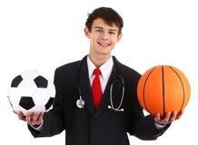 ποδόσφαιρο γιατρών καλαθοσφαίρισης στοκ εικόνες