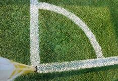 ποδόσφαιρο γωνιών τόξων στοκ φωτογραφίες