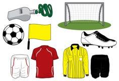 ποδόσφαιρο εικονιδίων Στοκ Φωτογραφία