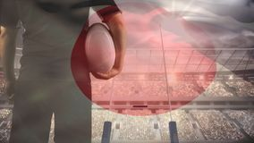 Ποδόσφαιρο εκμετάλλευσης φορέων ράγκμπι απόθεμα βίντεο