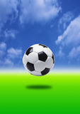 ποδόσφαιρο εστίασης Στοκ Εικόνα