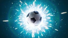 ποδόσφαιρο Ισχυρή ενέργεια ποδοσφαίρου απόθεμα βίντεο