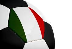 ποδόσφαιρο ιταλικά σημαι στοκ φωτογραφία