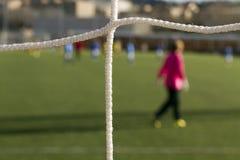 Ποδόσφαιρο καθαρό Στοκ Φωτογραφίες