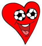 ποδόσφαιρο καρδιών ανεμι& Στοκ Φωτογραφία