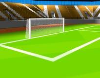 ποδόσφαιρο κλουβιών Στοκ Εικόνα