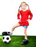 ποδόσφαιρο κοριτσιών μπο& Στοκ φωτογραφίες με δικαίωμα ελεύθερης χρήσης