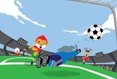 ποδόσφαιρο μασκότ Στοκ φωτογραφίες με δικαίωμα ελεύθερης χρήσης