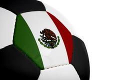 ποδόσφαιρο μεξικανός σημαιών Στοκ φωτογραφία με δικαίωμα ελεύθερης χρήσης