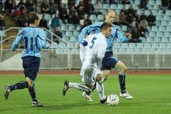 ποδόσφαιρο μονομαχίας Στοκ Εικόνα