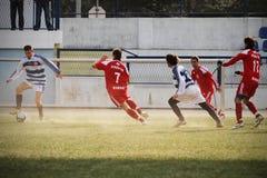 ποδόσφαιρο μονομαχίας Στοκ Φωτογραφίες