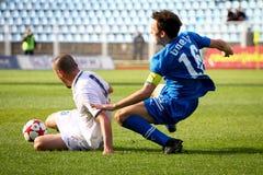ποδόσφαιρο μονομαχίας Στοκ φωτογραφία με δικαίωμα ελεύθερης χρήσης