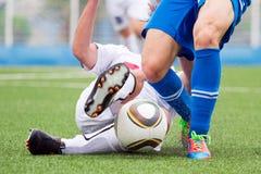 ποδόσφαιρο μονομαχίας Στοκ φωτογραφίες με δικαίωμα ελεύθερης χρήσης