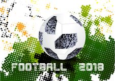 Ποδόσφαιρο 2018, Μόσχα Ρωσία διανυσματική απεικόνιση