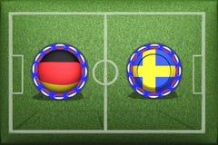 Ποδόσφαιρο, Παγκόσμιο Κύπελλο 2018, ομάδα Φ, Γερμανία Σουηδία παιχνιδιών Στοκ Εικόνα