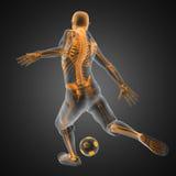 ποδόσφαιρο παικτών παιχνιδιών Στοκ Εικόνα