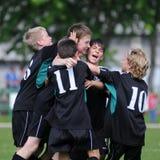 ποδόσφαιρο παιχνιδιών u13 Στοκ φωτογραφία με δικαίωμα ελεύθερης χρήσης