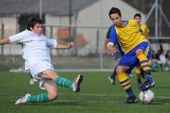 ποδόσφαιρο παιχνιδιών u15 Στοκ εικόνες με δικαίωμα ελεύθερης χρήσης