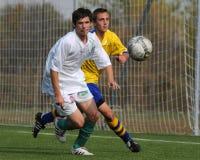 ποδόσφαιρο παιχνιδιών u15 Στοκ φωτογραφίες με δικαίωμα ελεύθερης χρήσης