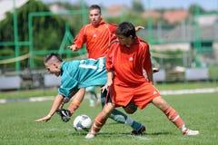 ποδόσφαιρο παιχνιδιών u19 Στοκ εικόνα με δικαίωμα ελεύθερης χρήσης