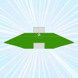 ποδόσφαιρο πεδίων έννοιας πρόκλησης απεικόνιση αποθεμάτων